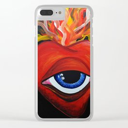Heart exploding Clear iPhone Case