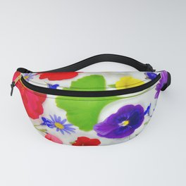 Colorful Spring Flowers Fanny Pack