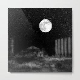 Alien Moon Metal Print