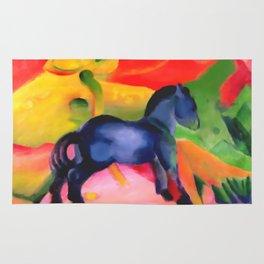 "Franz Marc ""Little Blue Horse"" Rug"