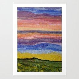 Shimmering Clifftop View Art Print