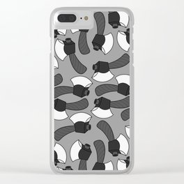 Axe Pattern (BW) Clear iPhone Case
