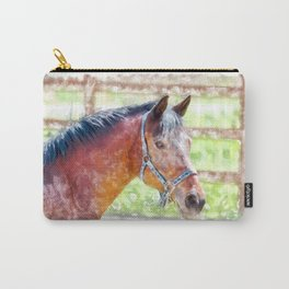 Horse Head in Watercolor painting style Carry-All Pouch