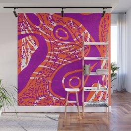 Linocut Print_2 Wall Mural