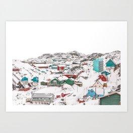 Greenland Village Modern Minimalist Art Art Print