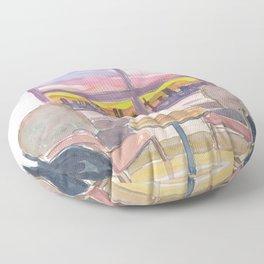 Cozy Panorama Window To Munich Bavaria Floor Pillow