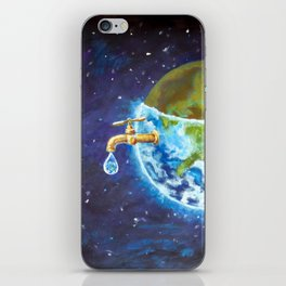 Water crisis, water shortage problem, drought, save water - the concept of original hand painted iPhone Skin