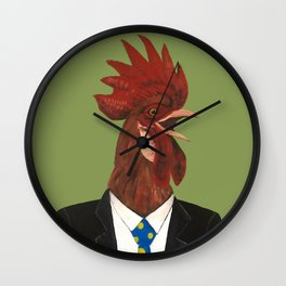 Mr Cock Wall Clock