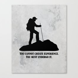 Albert Camus - You Cannot Create Experience Canvas Print