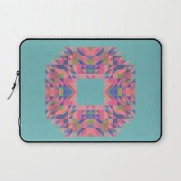 NARCISSUS fuchsia pink turquoise blue geometric holiday wreath Laptop Sleeve