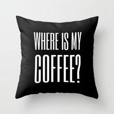 Coffee III Throw Pillow