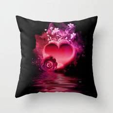 Flooding Heart Throw Pillow