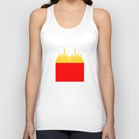 fries Tank Tops featuring City Fries by OneWeirdDude