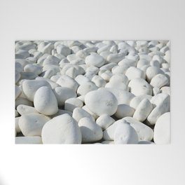 White stones Welcome Mat