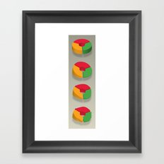 Data Deflated Framed Art Print