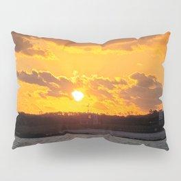 Sunrise on the jeju  island sea in Korea. Pillow Sham