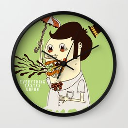 Everything Tastes Unfun Wall Clock