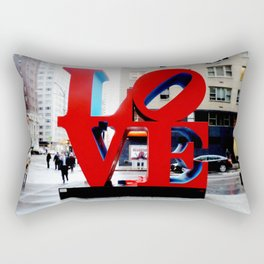 Love Sign Nyc Rectangular Pillow