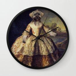 Lady Kerry Blue Wall Clock