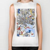 baltimore Biker Tanks featuring Baltimore Mondrian by Mondrian Maps