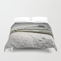 crocodile Duvet Covers featuring Crocodile by Tiffany Anne