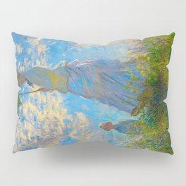 Claude Monet Impressionist Landscape Oil Painting Claude Monet - Woman with a Parasol - Madame Monet Pillow Sham