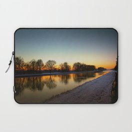 Winter sun early morning waterfront Laptop Sleeve