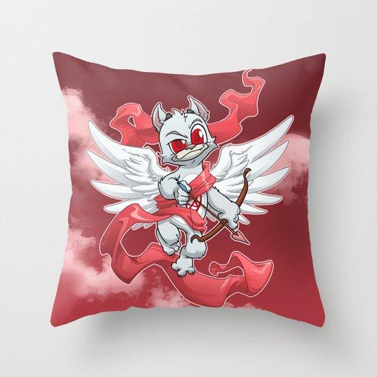 Cupid Evil Throw Pillow