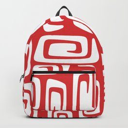 Mid Century Modern Cosmic Abstract 612 Red Backpack