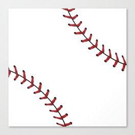 Baseball Laces Canvas Print