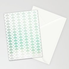 Twisted in white Stationery Cards