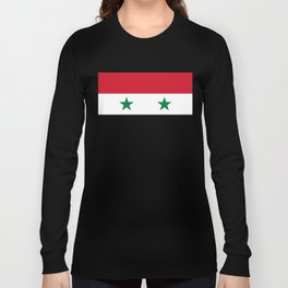 Syrian flag - may PEACE prevail Long Sleeve T-shirt
