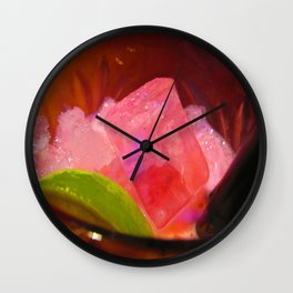 Pink Ice Wall Clock