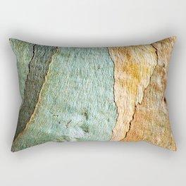 Eucalyptus Tree Bark Wood Abstract Colorful Texture Macro Rectangular Pillow