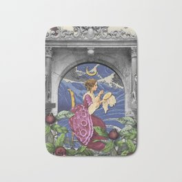 THE HIGH PRIESTESS TAROT CARD Bath Mat