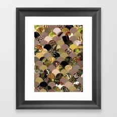 Autumn Scalloped Pattern Framed Art Print
