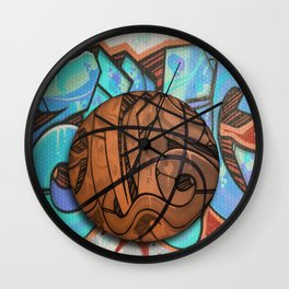 Basketball Graffiti Team Sports Design Wall Clock