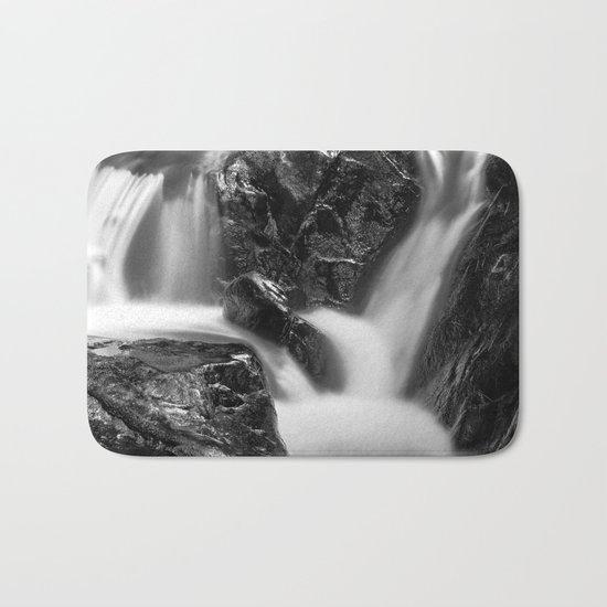 Shelving Rock Stream - Black & White Bath Mat
