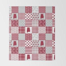 Alabama bama crimson tide cheater quilt state college university pattern footabll Throw Blanket