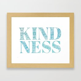 Kindness Framed Art Print