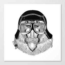 Monkey Speed Rebel Canvas Print