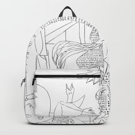 Picasso Line Art - Guernica Backpack