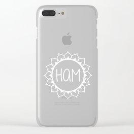 Ham—Throat Chakra Mantra Clear iPhone Case