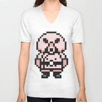 earthbound V-neck T-shirts featuring Pigmask - Mother 3 / Earthbound 2 by Studio Momo╰༼ ಠ益ಠ ༽