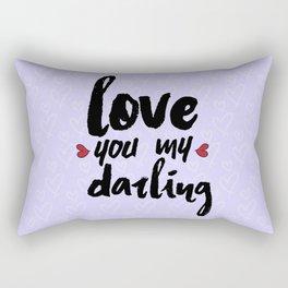 Love You My Darling Rectangular Pillow
