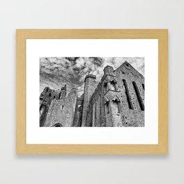 Rock of Cashel Film Noir Style Framed Art Print