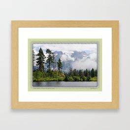 MOUNT SHUKSAN EMERGING THROUGH THE CLOUDS Framed Art Print