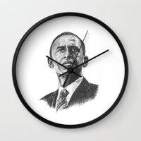 obama Wall Clocks featuring Obama by barmalisiRTB