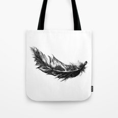 Feather- B&W // Illustration Tote Bag