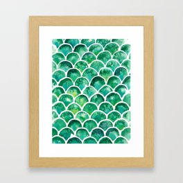 Mermaid Scales Framed Art Print